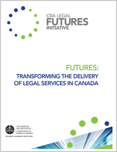 Futures: Transforming the Delivery of Legal Services in Canada