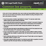 Common law property