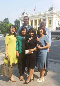 Former Chief Legislative Counsel, Lionel Levert, Professor Dale Dewhurst, Athabasca University with Vietnamese partners