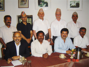 A photo of the Nepal Members