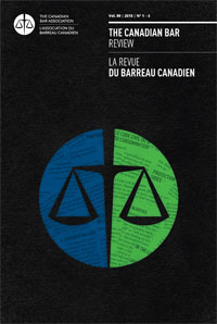 The Canadian Bar Review