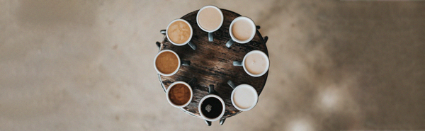 coffe cups in a circle