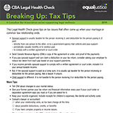Breaking Up: Tax Tips