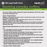 Resolving everyday conflicts