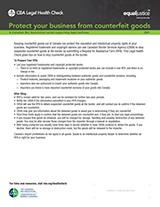 Counterfeit and your business