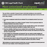 Non-unionized employees