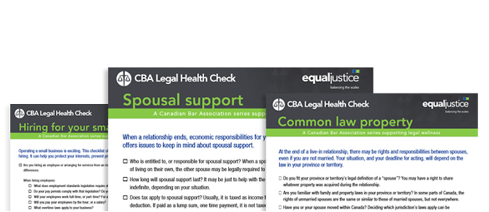 CBA Legal Health Checks
